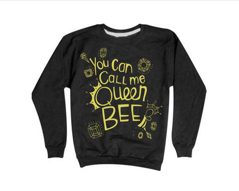 Lorde Royals Sweatshirt | You Can Call Me Queen Bee Sweater GOLD PRINT | Fashion Shirt | Scoop.it
