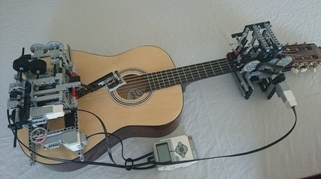 Ένα ρομπότ από LEGO παίζει κιθάρα | omnia mea mecum fero | Scoop.it
