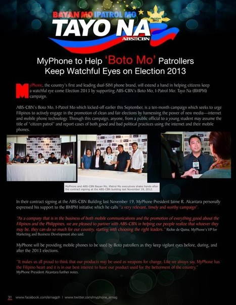 MyPhone to Help 'Boto Mo' Patrollers Keep Watchful Eyes on Election 2013 | MyPhone E-Mag | Scoop.it