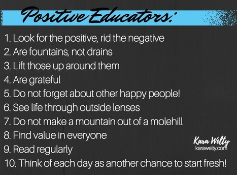 10 Habits of Positive Educators | Education and Training | Scoop.it