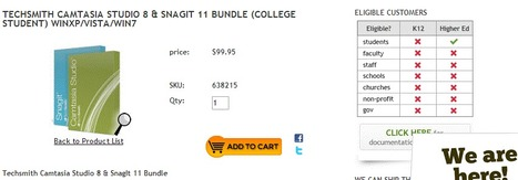$99 Camtasia Studio 8 w/Snag-it 11 for college students only | Graphic and Curation Tools | Scoop.it