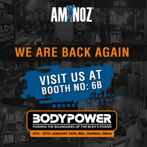 Aminoz in Bodypower India Expo'16 | Aminoz Health and Sports Supplements | Scoop.it