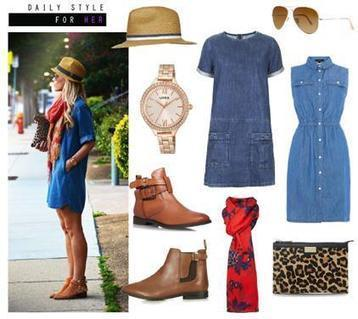 Daily Style For Her In A Denim Dress   Women Fashion Clothing   Set That   Scoop.it