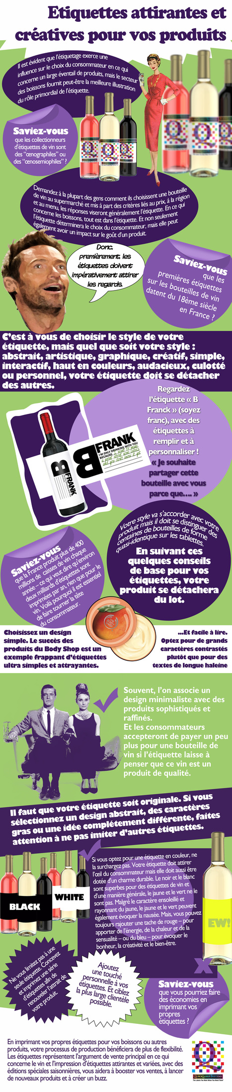 Étiquettes personnalisables | French Infographics & Quotographics | Scoop.it