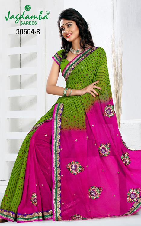 Buy Bandhani Sarees Online | Surat Sarees Online from JagdambaSarees | Scoop.it