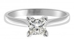 Grace Engagement Ring - Princess Cut Engagement Ring in White Gold | Engagement Rings Dublin. | Scoop.it