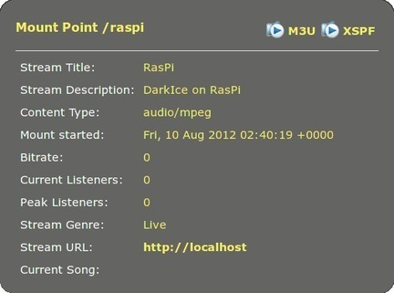 Live mp3 streaming from audio-in with DarkIce and Icecast2 on Raspberry Pi | Raspberry Pi | Scoop.it