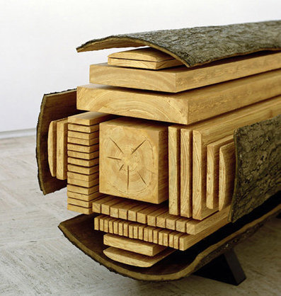 Frozen Mid-Cut: Log Sculpture Shows How Trees Get Sliced | #Technology | Scoop.it