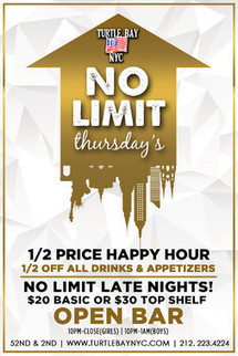 No Limit Thursdays: Post-Finals Celebration Events - Turtle Bay NYC | Best Bars Midtown NYC | Scoop.it