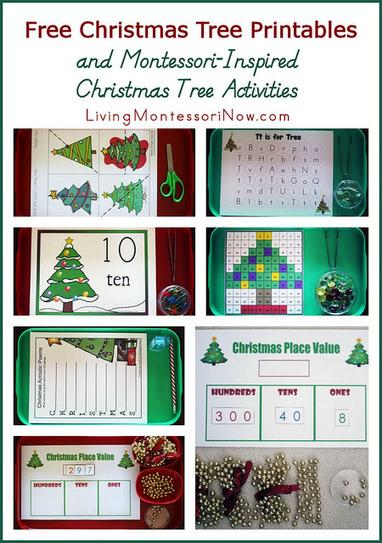 Free Christmas Tree Printables and Montessori-Inspired Christmas Tree Activities | Montessori Inspired | Scoop.it