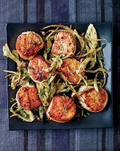 Scallops with Fennel Grenobloise Recipe - Kay Chun | Food & Wine | SEAFOOD RECIPES | Scoop.it