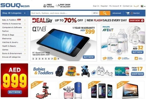 Souq.com's US$ 150 million Backing Crests Middle East e-commerce Wave - www.arabiangazette.com | Media & Technology in the Middle East | Scoop.it