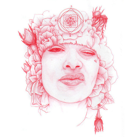 Beautiful Red Pencil Drawings by Lucas Lasnier #art #drawing #illustration #red #portraiture #pencil | ART | Scoop.it