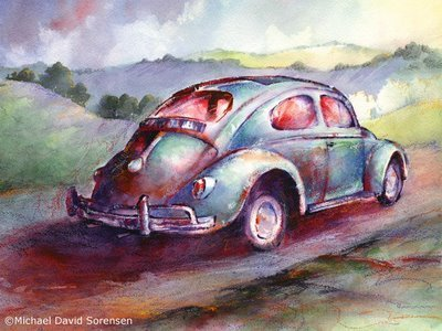 """A Rag Top Bug in Wine Country"" Michael David Sorensen 