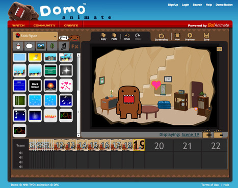 ::: Domo Animate - Create animations ::: | CRÉER - DESSINER EN LIGNE | Scoop.it