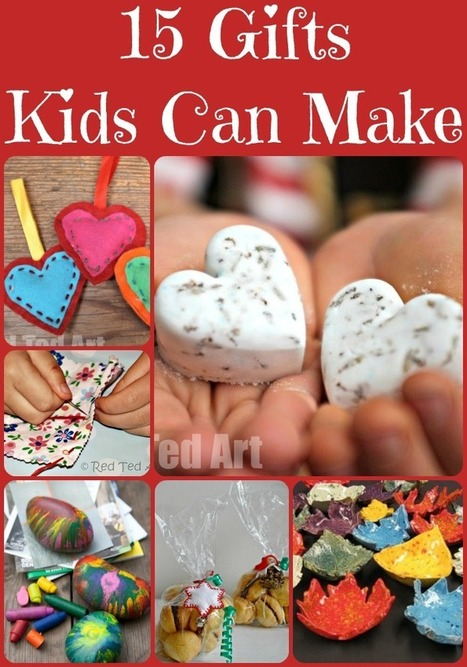 Christmas Gifts Ideas That Kids Can Make - Red Ted Art's Blog | HCS Learning Commons Newsletter | Scoop.it