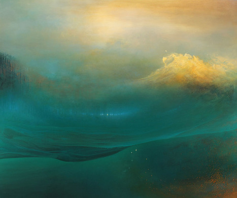 Internal #Landscapes: Sweeping #Abstract #Oceans by Samantha Keely Smith #art #painting #light #colour | Luby Art | Scoop.it
