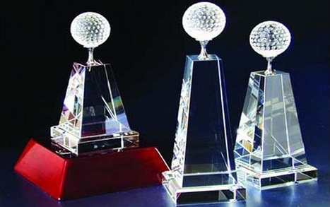 Custom #CrystalTrophy - Great for Golf Tournaments. Find more #Promotional #Golf #Gifts here | glass awards | Scoop.it
