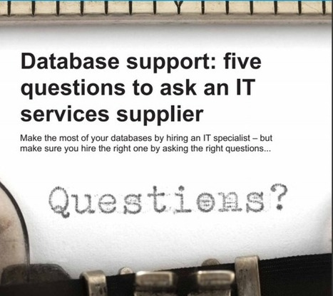 Five Questions to Ask an IT Services Supplier | Digital-News on Scoop.it today | Scoop.it
