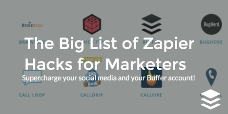 The Big List of Zapier Hacks for Marketers | Online Marketing Resources | Scoop.it