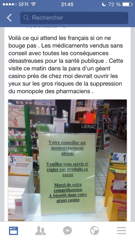La pitoyable destinée de la para en GMS,alors que dire du médicament ! | le médicament et la pharmacie | Scoop.it
