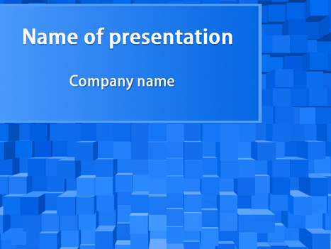 Download free Blue Cubes powerpoint template for presentation | Powerpoint Templates and Themes | Scoop.it
