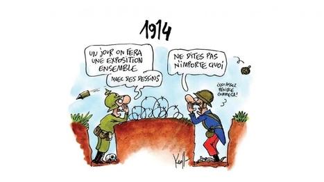 L'exposition «Dessine-moi la guerre - 1914-2014 : regards des dessinateurs de presse sur les guerres» | Centenaire de la Première Guerre Mondiale | Scoop.it