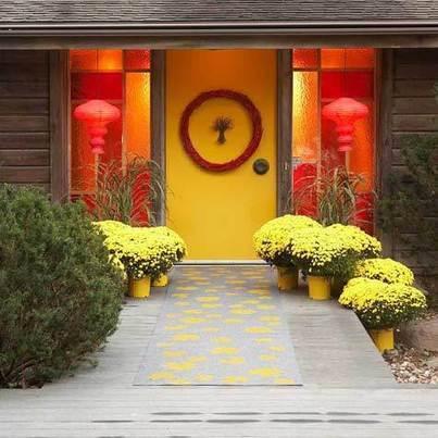 Door Decorating Ideas | Decorative Front Door Wreaths | Front Door Decor | Home Decorating Ideas | Scoop.it