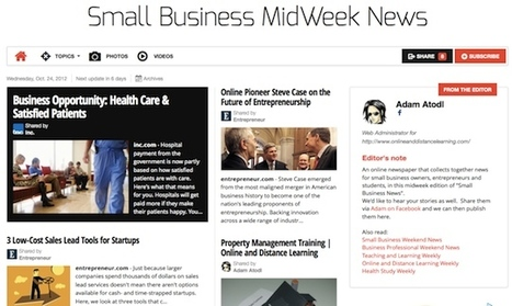 Oct 24 - Small Business MidWeek News is out | Transformations in Business & Tourism | Scoop.it