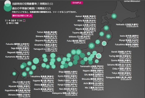 RADIATIONDOSE 全国・福島 放射線量ビジュアルマップ 空間放射線量・積算量 | Mapping & participating: Fukushima radiation maps | Scoop.it