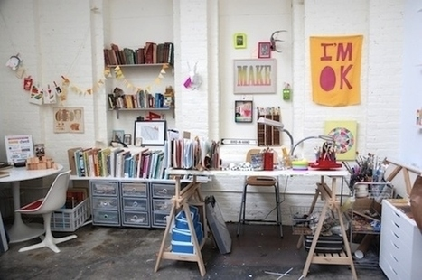 40 Inspiring Workspaces Of The Famously Creative | Stress-Less, Create More | Scoop.it