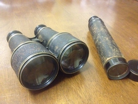 Ultra Rare Lemaire Fabt Paris Binoculars And Spyglass Telescope Brass With Leather French antique | Antiques & Vintage Collectibles | Scoop.it