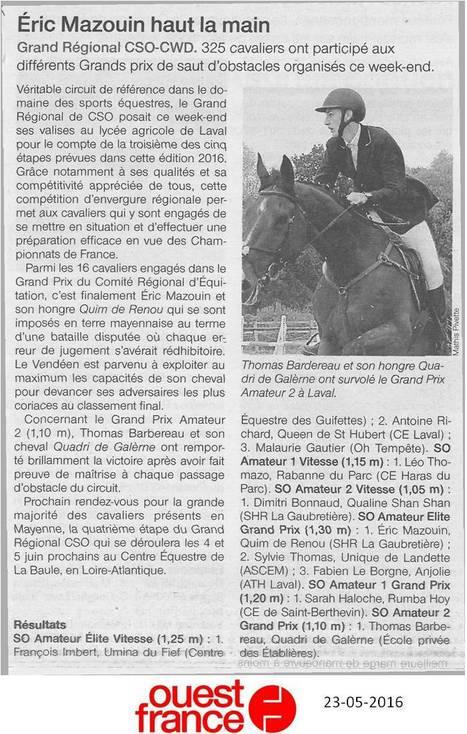 L'ATH a accueilli 325 cavaliers pour le Grand Régional CSO-CWD | Le lycée agricole de Laval | Scoop.it