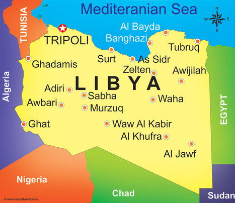 libya-map | The Country Of Me- Libya | Scoop.it