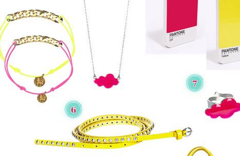 Accessoires : rose et jaune fluo | Bijoux  créateurs | Scoop.it