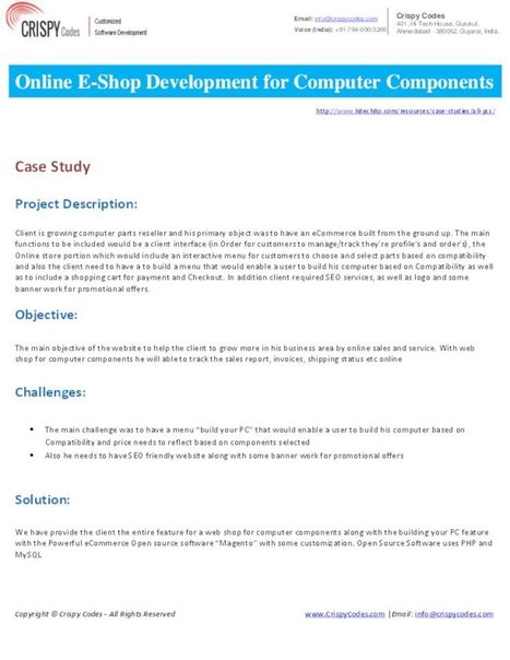 Online E-Shop Development for Computer Components | Hi-Tech ITO(Offshore Software Development Company) | Scoop.it