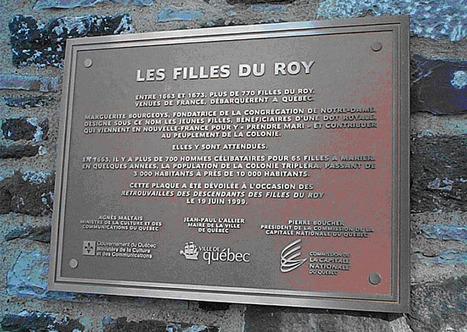 Les Filles du Roy : Commémoration et noms de famille - www.histoire-genealogie.com | Généalogie | Scoop.it