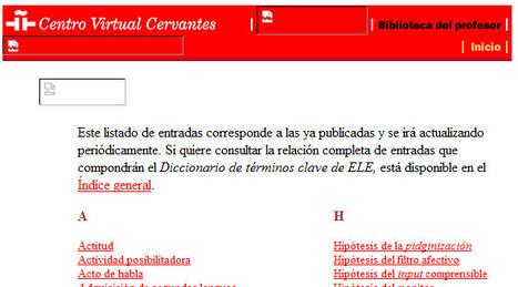 CVC. Diccionario de términos clave de ELE. Diccionario. | Ejercicios de Español | Scoop.it