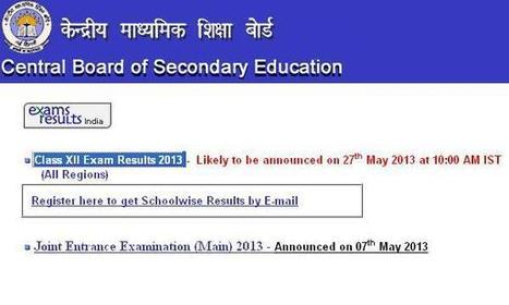 CBSE class 12th (XII) confirm result date | Jobs1234 | Scoop.it