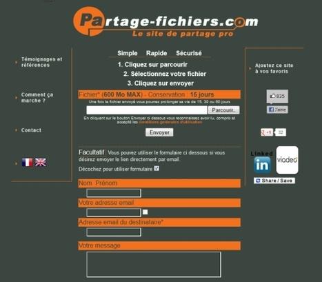 5 services gratuits sans inscription pour échanger de gros fichiers | Time to Learn | Scoop.it