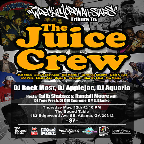 GetAtMe The WreckingCrewAllstars tribute to 'THE JUICE CREW' tonight at The SoundTable... #RealHipHopMusic @ElShabazz | GetAtMe | Scoop.it
