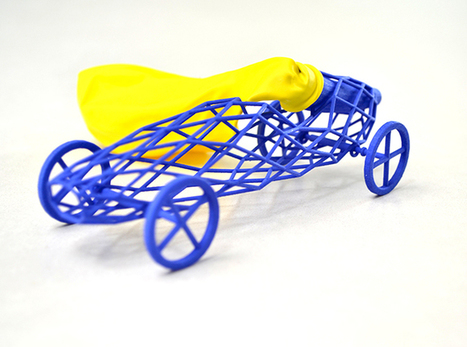 Super Lightweight 3D Printed Balloon Powered Toy Car (VIDEO) - Shapeways Blog on 3D Printing News & Innovation | Stuff about stuff which I think is important or interesting | Scoop.it