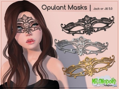Opulant Mask Gift by MELONopolis | Teleport Hub - Second Life Freebies | Second Life Freebies | Scoop.it