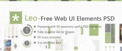 Leo - Free Web UI Elements PSD for Free Download - Freebie No: 82 | UI Design PSD | Scoop.it