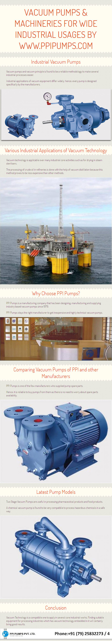 Vacuum Pumps & Machineries for Wide Industrial Usages by www.ppipumps.com | PPI Pumps Pvt. Ltd. | Scoop.it