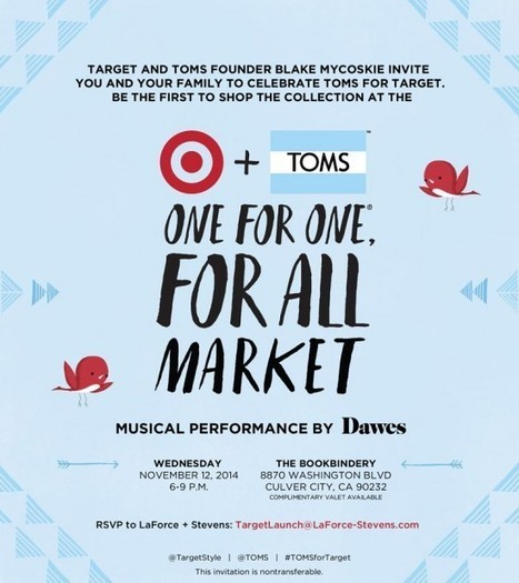 TOMS for Target Launch Event, 11/12 | Best of the Los Angeles Fashion | Scoop.it