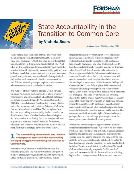 State Accountability in the Transition to Common Core | Common Core State Standards | Scoop.it