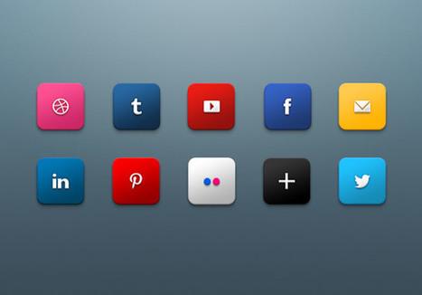 10 Free Social Media Icons set | WordPress and Web Design | Scoop.it