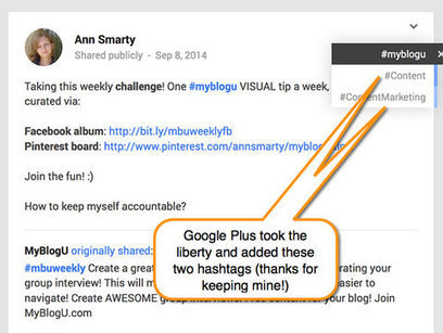 How to Use Google+ Hashtags for More Exposure | Cloud Central | Scoop.it