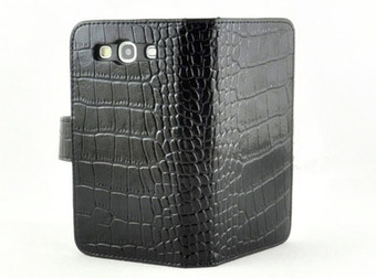 High Quality Black Crocodile Leather Diary Wallet Purse Case For Samsung Galaxy 3 i9300   here are some good goods form tobuygoods   Scoop.it